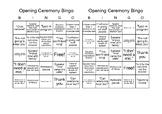Opening Ceremony Bingo -Teachers ONLY