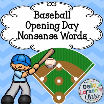 Opening Day Baseball Nonsense Words Coloring Page