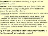 Opening Japan to Trade and the Purchase of Alaska PPT