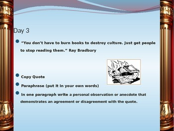 Opening Lines A Power Point Presentation Tool for Daily Quotation Responses