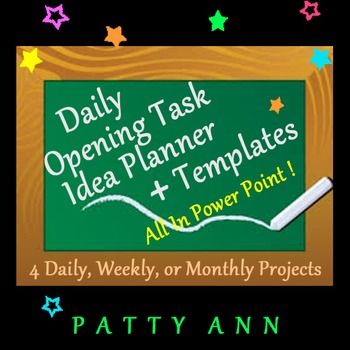 Classroom Planner Template 4 Classtime > 4 All School Subjects ~ In PPT Format