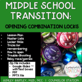 Middle School Transition How to Open a Combination Lock PPT + Google Slides™