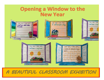 Back to school activity & display- Opening a Window to the New Year