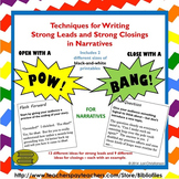 Strong Leads and Closing Lines for Narratives {Printable R