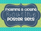 Morning and Closing Routine Posters