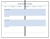 Opening and Closing Worksheet