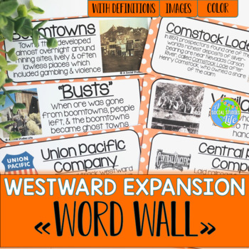 Westward Expansion Word Wall