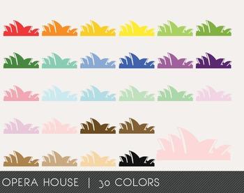 Opera House Digital Clipart, Opera House Graphics, Opera House PNG