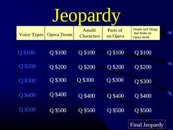 Opera Jeopardy powerpoint game