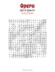 Opera Word Search Puzzle