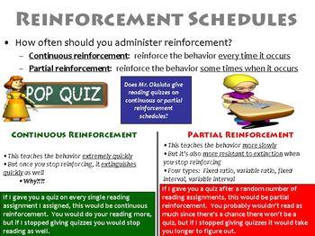 Operant Conditioning Schedules of Reinforcement PowerPoint