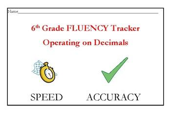 Operating on Decimals Fluency Tracker
