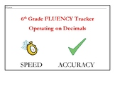 Operating on Decimals Fluency Tracker