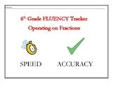Operating on Fractions Fluency Tracker