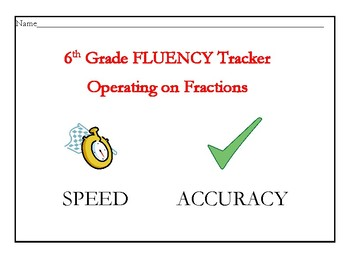 Operating on Fractions Fluency Tracker