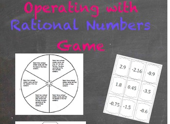 Rational Numbers Game ~ Practice computing with rational numbers