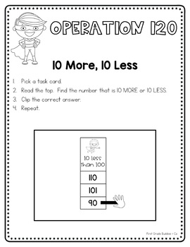 Operation 120: A Number Sense Packet Targeting Numbers 90-120 {5 Centers}