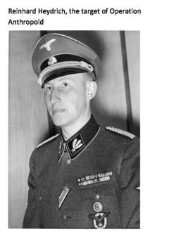 Operation Anthropoid Assassination of Reinhard Heydrich Word Search