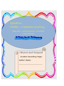Writing Workshop, Operation Author Part One Successful Author Strategies