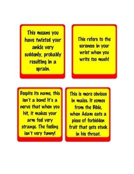 Operation Board Game - Body Idiom Cards - ESL EFL English