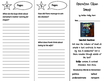 Operation Clean Sweep Trifold - ReadyGen 5th Grade Unit 2 Module A