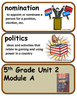 ReadyGen Operation Clean Sweep Vocabulary  5th grade  Unit