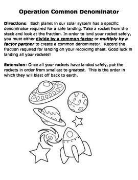 Operation Common Denominator