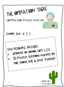 Operation Contraction: Adding an Apostrophe to Create a Contraction
