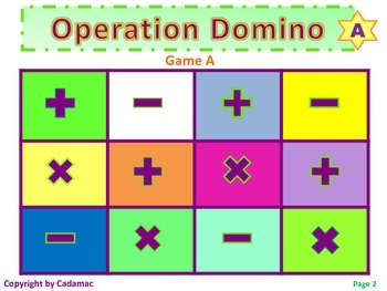Hands-On Domino Games For Reinforcing Basic Facts