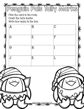 Operation E.L.F. FREEBIE Penguin Pals Tally Marks Count the Room