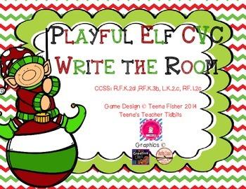 Operation E.L.F. FREEBIE Playful Elf CVC Write the Room