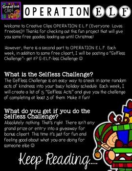 Operation E.L.F Freebie #2 {Creative Clips Digital Clipart}