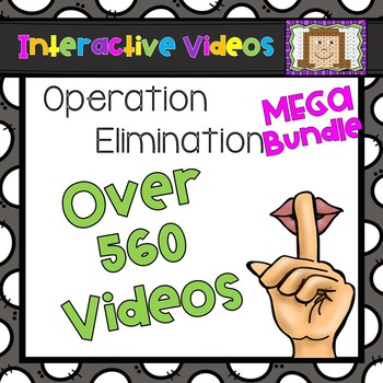 Operation Elimination MEGA Bundle - Interactive Videos