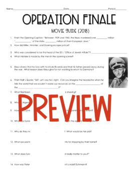 Operation Finale Movie Guide (2018)