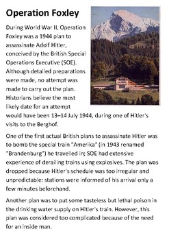 Operation Foxley Handout