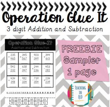Operation Glue It- Addition SAMPLER *FREEBIE*