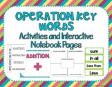 Operation Key Words Interactive Notebook