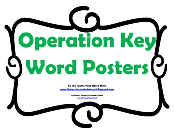 Operation Key Words Posters