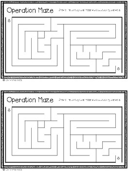 Early Finisher Work - Operation Maze