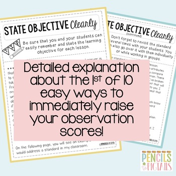 Operation Observation FREEBIE - 1st Tip to Raise your Observation Scores