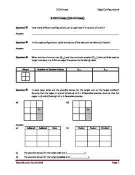 Operation Puzzles_Student Worksheets (2-Omino)