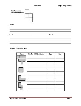 Operation Puzzles_Student Worksheets (4-Omino)