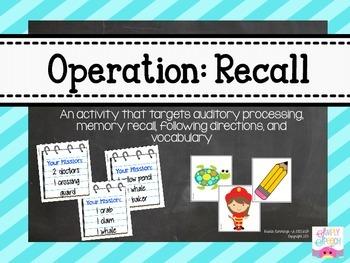 Operation: Recall