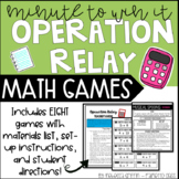 Operation Relay - Math Minute to Win It Style Games