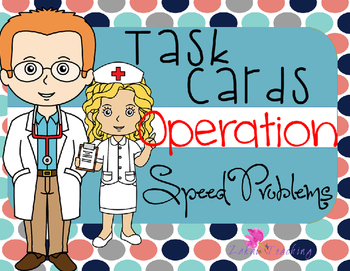 Operation Speed Problems - Task Cards