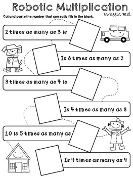 Operation and Algebraic Thinking [cut and paste worksheets]