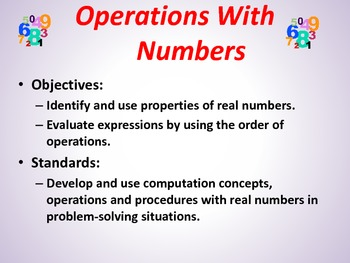 Operation with Numbers