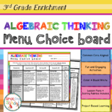 3rd Grade Operations and Algebraic Thinking Choice Board – Enrichment Math Menu