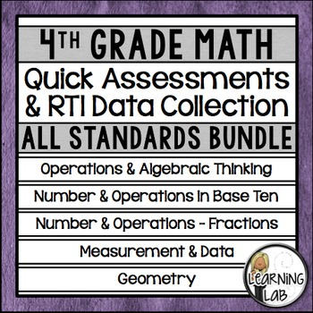 4th Grade Quick Assessments and RTI Data Collection - All