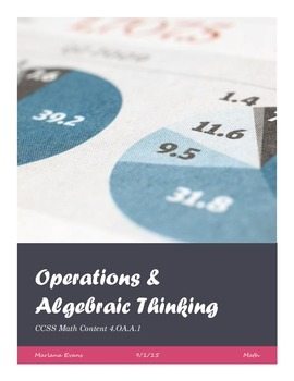 Operations & Algebraic Thinking Assessments (Free Preview)